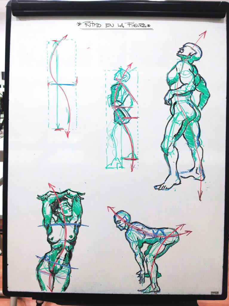 Pizarra Ejes de Anatomía