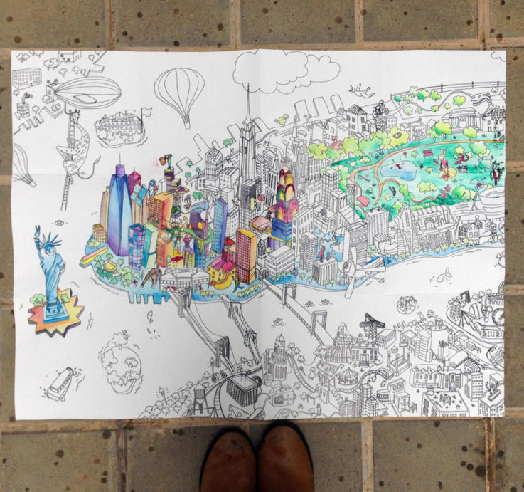 Ilustraciones para colorear, éxito Editorial | Arteneo