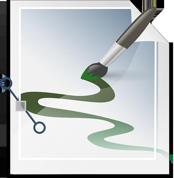 Ilustración realizada con un software vectorial.