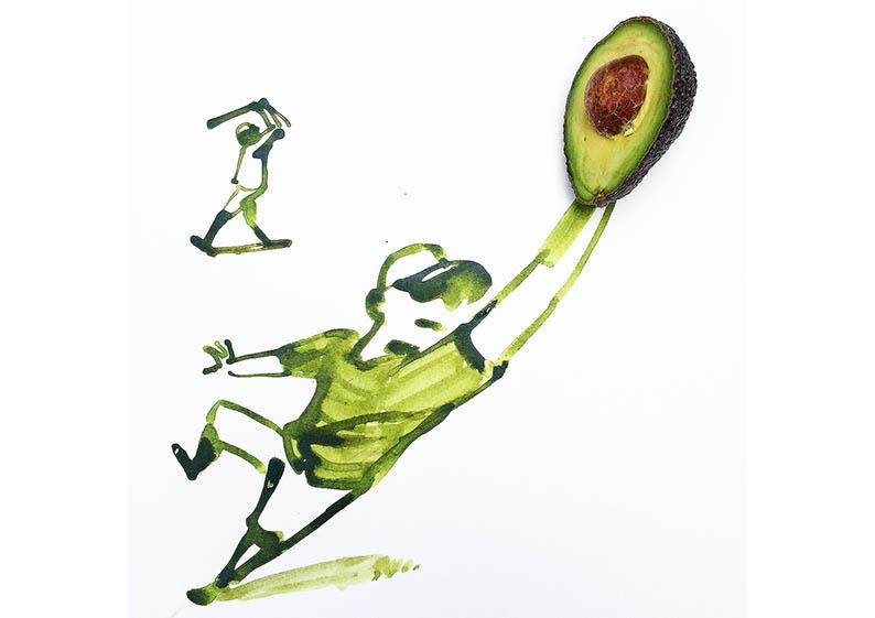 ilustrar aguacate