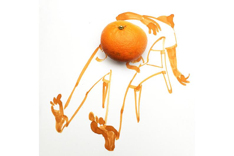 ilustrar mandarina