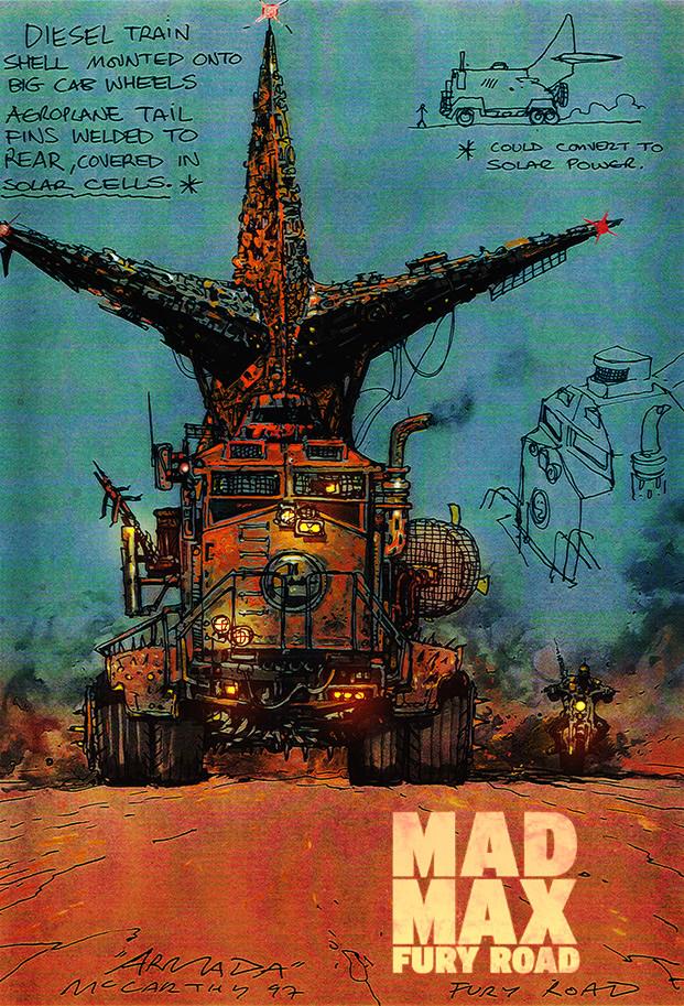 Bocetos de Mad Max1