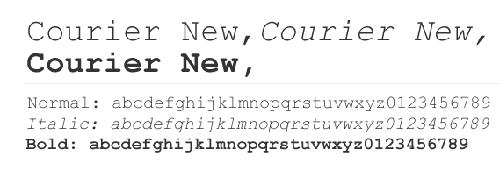 tipografías para imprimir. courier