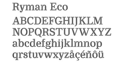 tipografías para imprimir. ryman eco