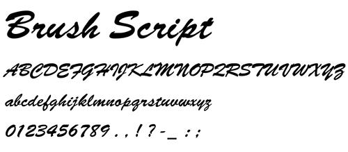 tipografías para imprimir.Brush