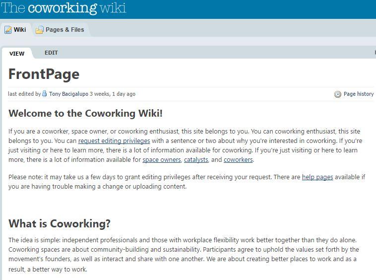 coworking wiki