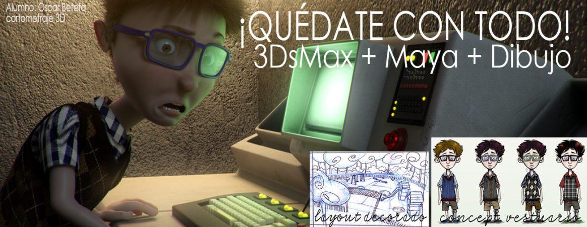 Imagen de ¿ Elegir entre 3DsMax o Maya? ¿ y… dejar el dibujo?