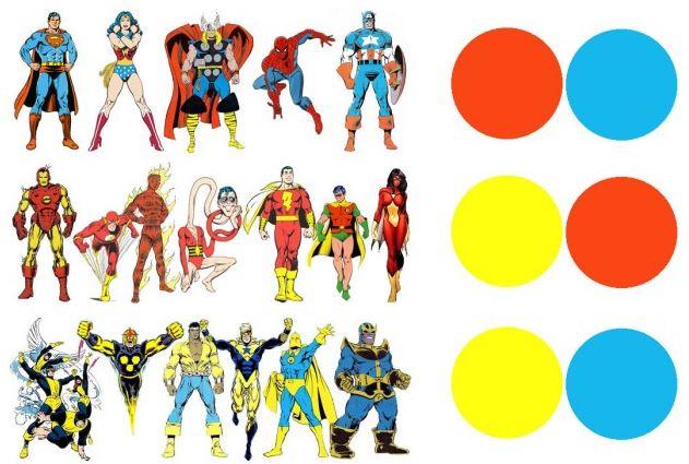 Teor a del color aplicada a los superh roes del c mic - Que colores pegan ...