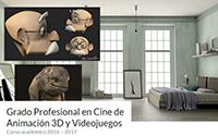 Grado Profesional Cine Animación 3D Videojuegos