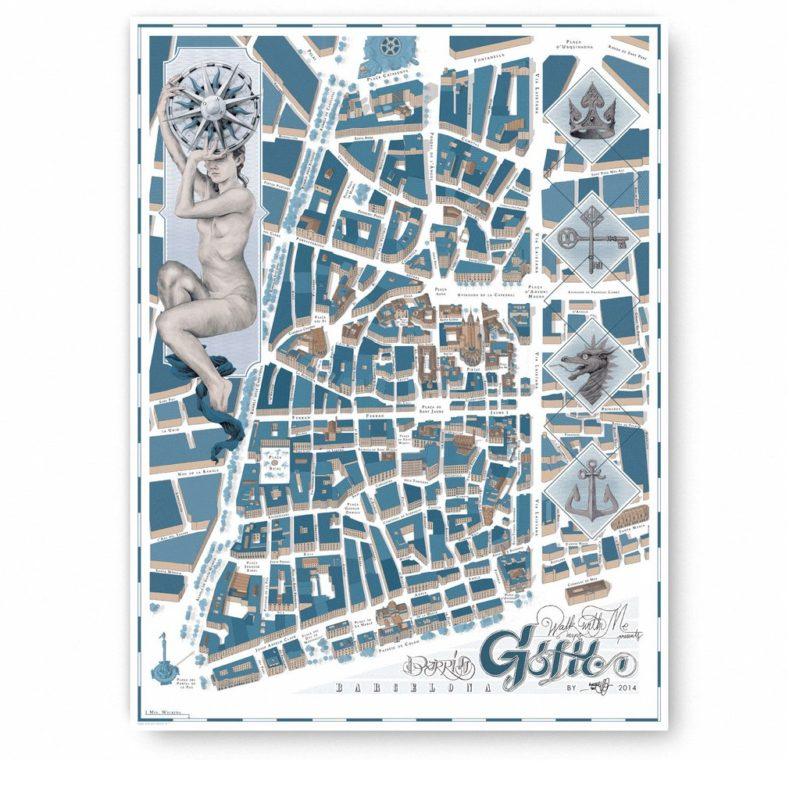 mapas-ilustrados-barcelona-gotico-walk-with-me