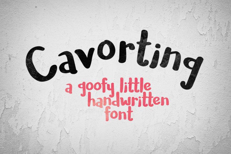 tipografía handwritten gratis cavorting