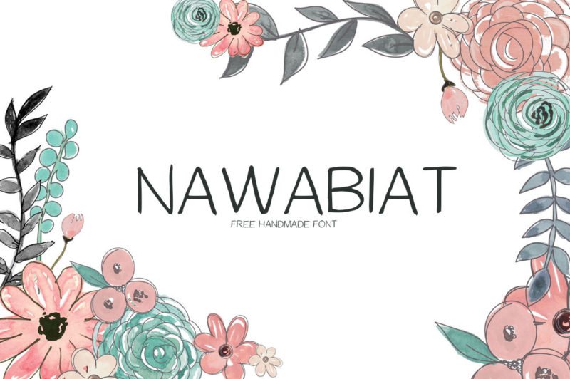 tipografía handwritten gratis nawabia