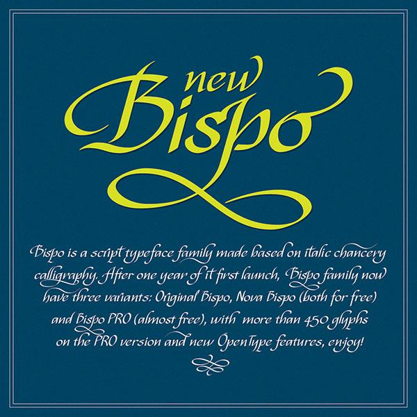 tipografía hanwritten gratis Bispo