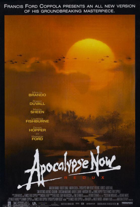 Ilustración de los carteles de cine Apocalypse Now