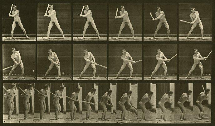 Eadweard Muybridge realizó amplios estudios fotográficos del movimiento, como éste de 1887
