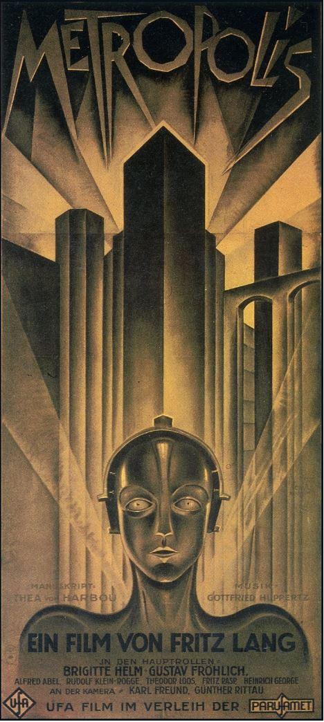 Ilustración de los carteles de cine Metropolis