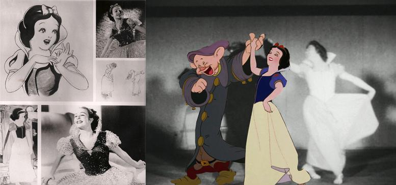 Blancanieves (1937) fue la primera película de Animación realista con rotoscopio.