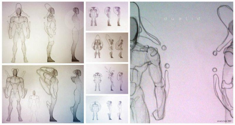 Concept Art de Creación de Personaje para DUALID. Gabriel G. 'Dhijo'