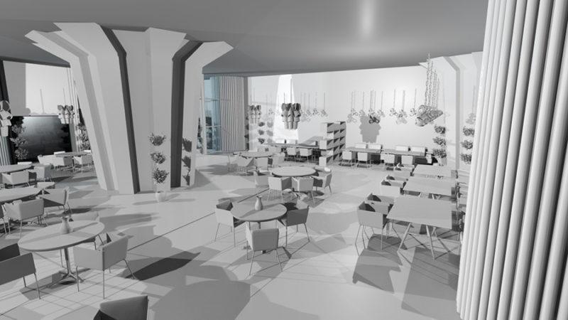 Render 3D, trabajo de Rocío Mauricio.
